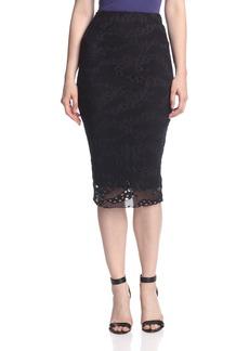 Twenty Tees Women's Perforated Current Midi Skirt  S
