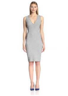 Twenty Tees Women's Static Micro Stripe Sheath Dress  L