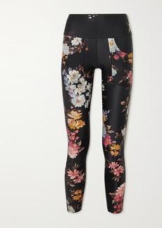 Twin Fantasy Paneled Floral-print Stretch Leggings
