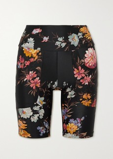 Twin Fantasy Paneled Floral-print Stretch Shorts
