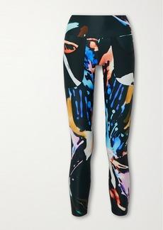 Twin Fantasy Paneled Printed Stretch Leggings
