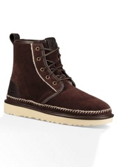 UGG Harkley Suede Stitch Faux Shearling Plain Toe Boot