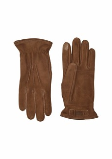 UGG 3 Point Leather Tech Gloves with Sherpa Lining