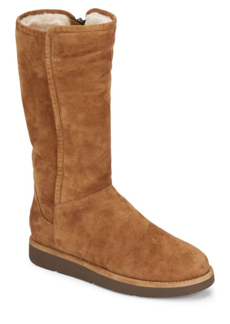 UGG Abree Shearling-Lined Tall Suede Boots