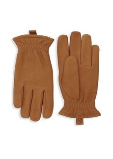 UGG Australia Faux Fur-Lined Leather Gloves