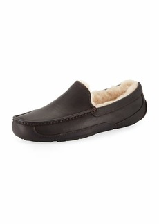 UGG Australia Men's Ascot Water-Resistant Leather Slippers