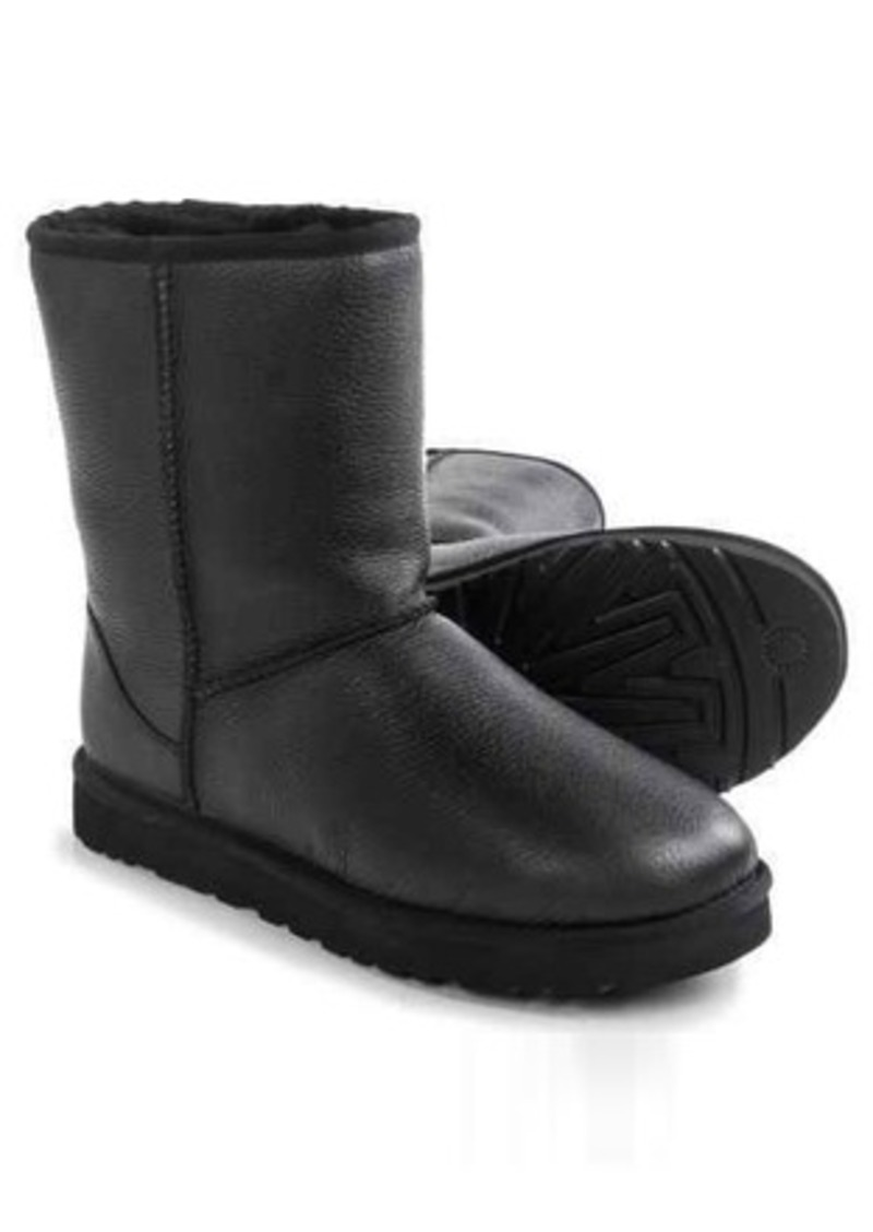 UGG® Australia Classic Short Boots - Leather, Wool Lining (For Men)