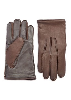 UGG Australia Wool Lined Touch Screen Leather Gloves