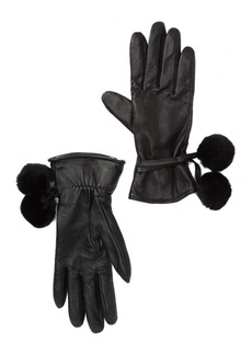 UGG Brita Smart Gloves with Genuine Shearling Pompoms