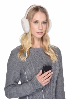 UGG Cable Knit Water Resistant Sheepskin Earmuff with Tech Option