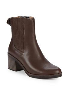 UGG Camden Leather Block Heel Booties