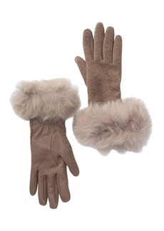 UGG Carry Forward Genuine Shearling Cuff Gloves