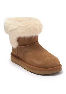 UGG Cathie Suede Genuine Sheepskin Lined Short Boot