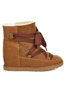 Classic Femme Sheepskin & UGGpure Lace-Up Boots