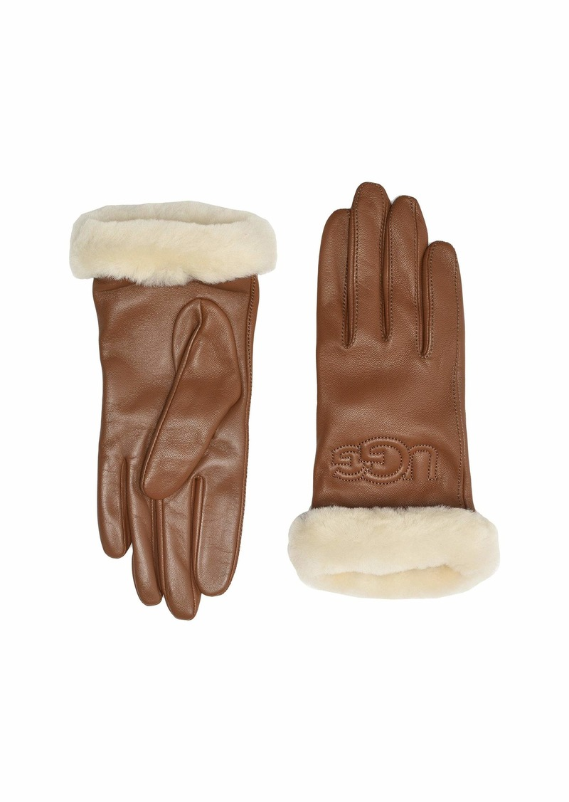 UGG Classic Leather Logo Tech Gloves