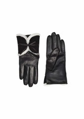 UGG Combo Sheepskin Trim and Leather Tech Gloves