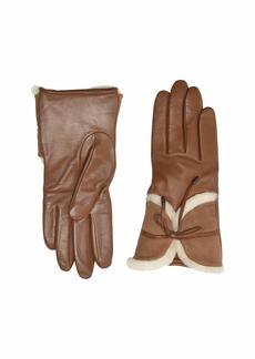 UGG Combo Sheepskin Trim Gloves