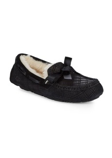 UGG Dakota Double-Diamond Pattern Bow Slippers