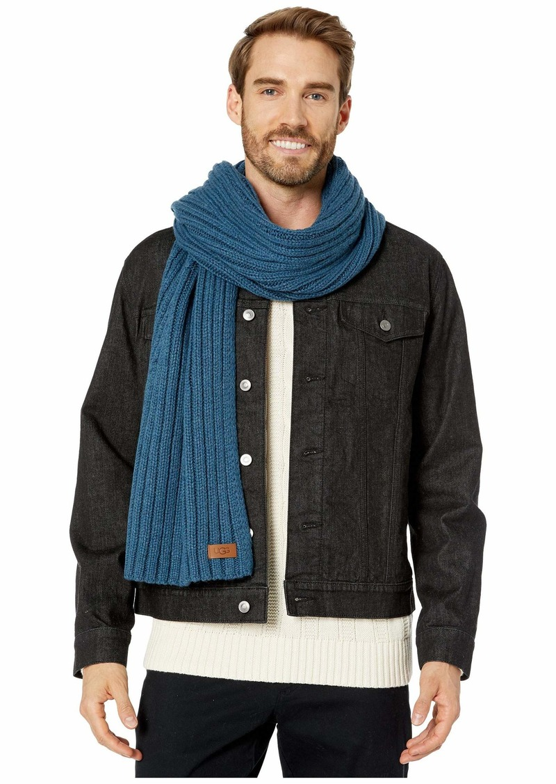 UGG Diagonal Ribbed Stripe Scarf