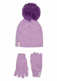 UGG Fine Gauge Knit Hat and Gloves Set (Toddler/Little Kids)