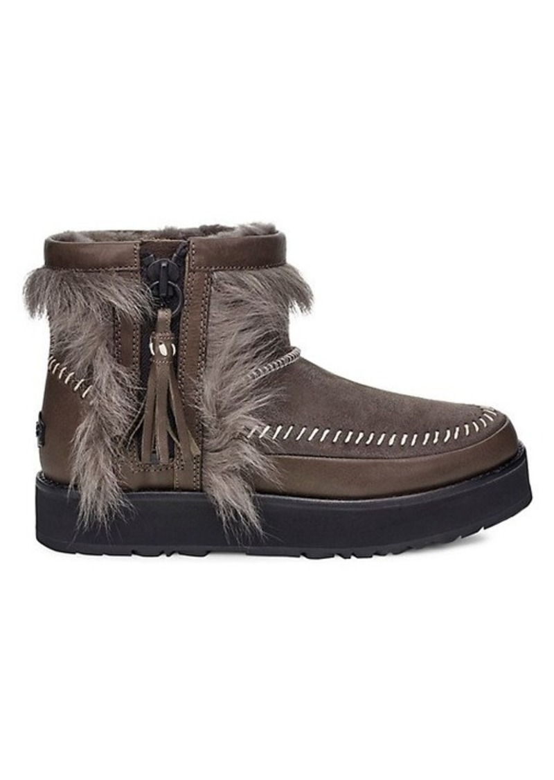 UGG Fluff Punk Leather & Sheepskin Boots