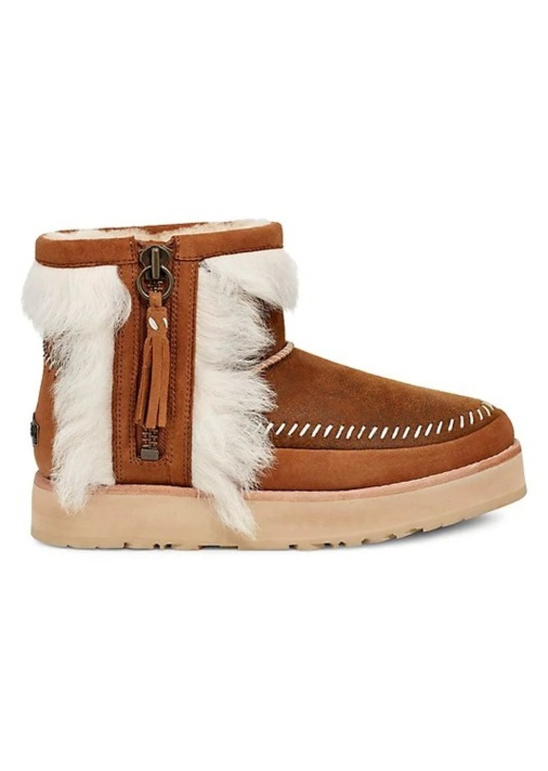 UGG Fluff Punk Shearling & Leather Booties
