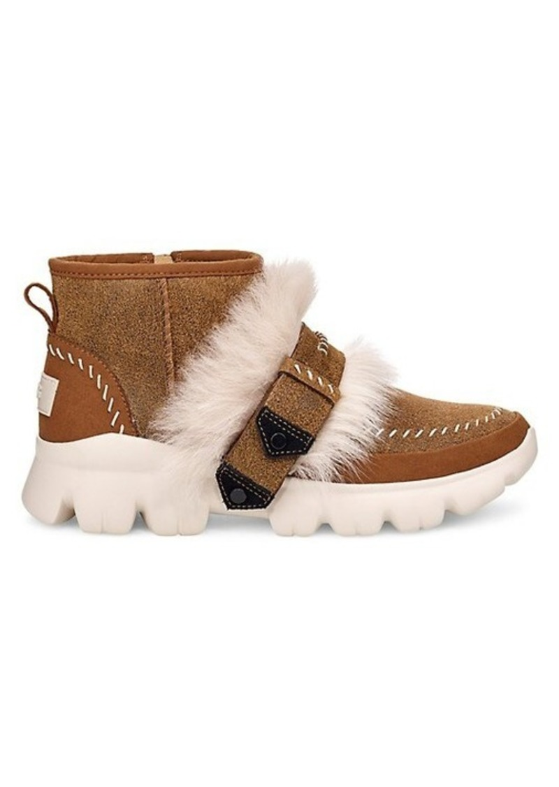 Fluff Punk UGGPure & Lamb Fur Suede Ankle Boots