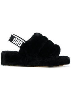 UGG fluffy open toe sandals