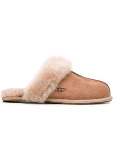 UGG fur trimmed slides