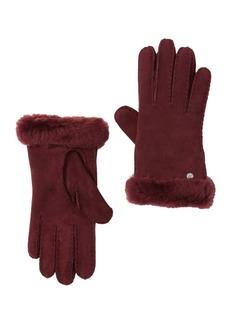 UGG Genuine Dyed Shearling Slim Side Vent Gloves