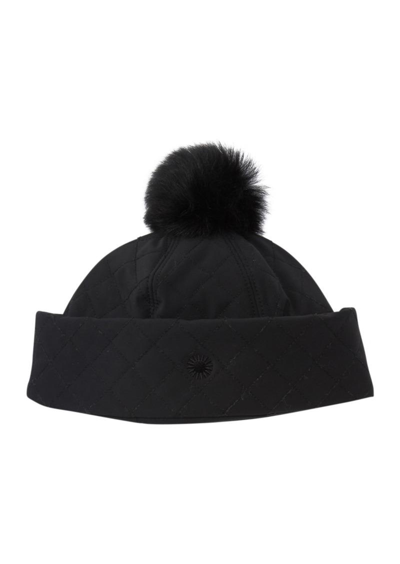 UGG Genuine Shearling Pompom Hat