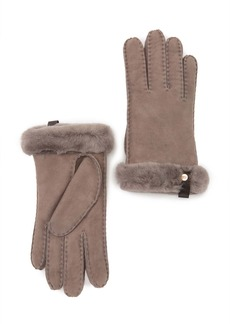 UGG Genuine Shearling Water Resistant Shorty Gloves