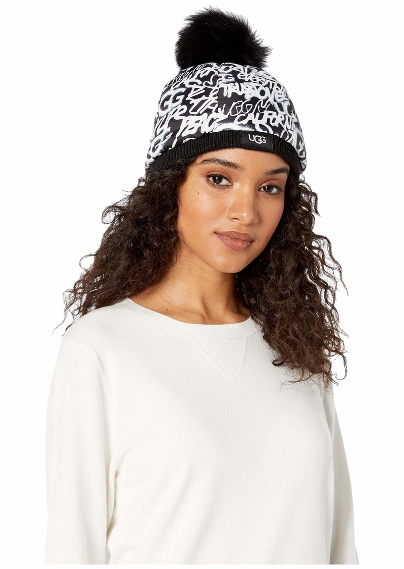 UGG Graffiti All Weather Hat with Pom