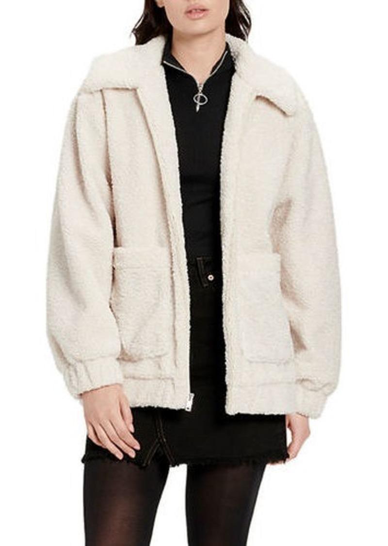 UGG Jackeline Teddy Bear Faux Fur Jacket