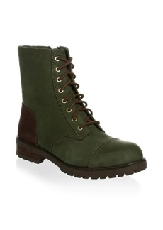 UGG Kilmer Shearling-Trim Leather Booties