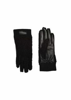 UGG Knit Cuff Sherpa Tech Gloves