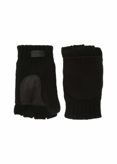 UGG Knit Flip Mitten with Tech Leather Palm and Sherpa Lining