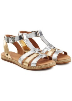 UGG Lanette Metallic Leather Sandals
