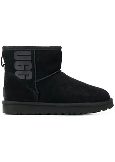 UGG logo print ankle boots