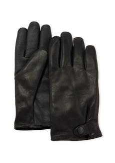 UGG Men's Tabbed-Splice Vent Leather Gloves
