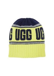 UGG Merino Wool Blend Knit Stadium Beanie (Toddler/Little Kids)