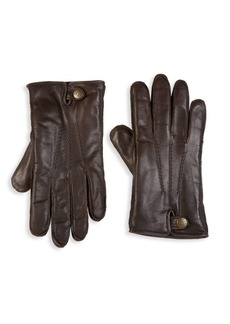 UGG Metisse Leather & Faux Fur Tech Gloves