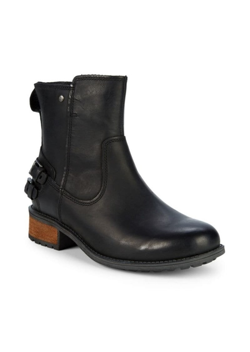 UGG Orion Double Buckle Leather Moto Boots