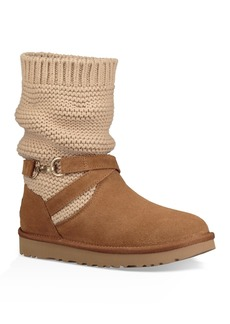 UGG Purl Knit Suede Boot