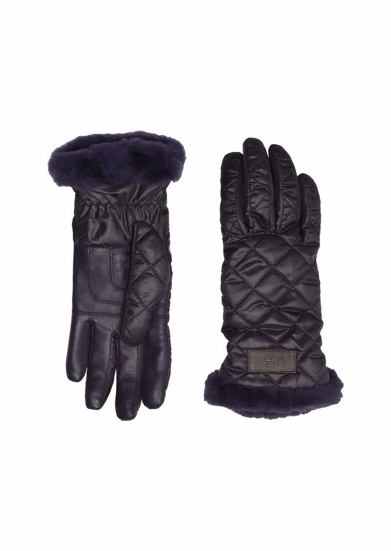 UGG Quilted Performance Tech Gloves with Sherpa Lining
