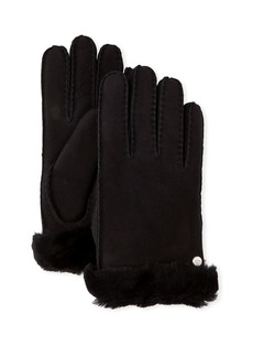 UGG Reverse-Stitch Sheepskin Gloves