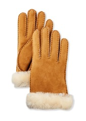 UGG Reverse-Stitch Sheepskin Gloves