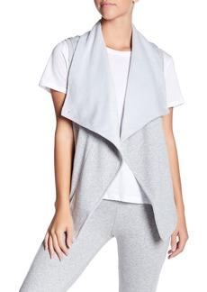 UGG Roz Faux Fur Lined Asymmetrical Drape Vest