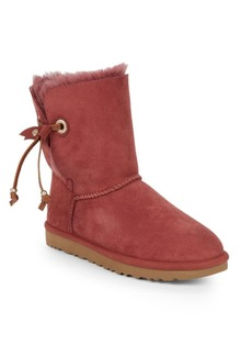 UGG Shearling Lined Suede Ankle Boots