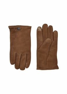 UGG Tabbed Splice Vent Leather Tech Gloves with Sherpa Lining